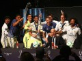 Игроки Реала облили Зидана водой на пресс-конференции