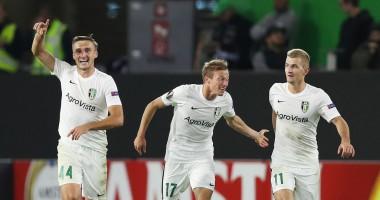 Сент-Этьен - Александрия 1:1 видео голов и обзор матча Лиги Европы