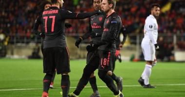 Эстерсунд – Арсенал 0:3 видео голов и обзор матча плей-офф Лиги Европы