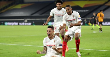 Вулверхэмптон - Севилья 0:1 видео гола и обзор матча Лиги Европы