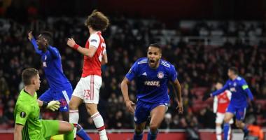 Арсенал - Олимпиакос 1:2 Видео голов и обзор матча Лиги Европы