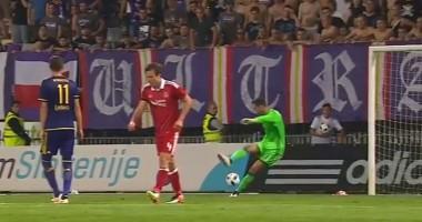 Курьезный гол в матче Марибор - Абердин или как голкипер похоронил свой клуб
