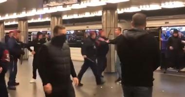 Венгерские фанаты с нацистской символикой напали на болельщиков ЦСКА
