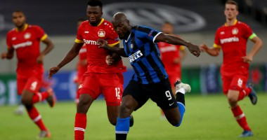 Интер - Байер 2:1 видео голов и обзор матча Лиги Европы