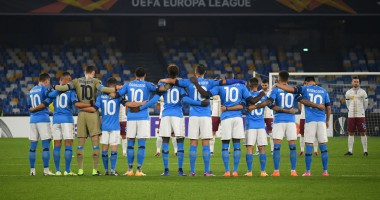 Фаера и слезы: в Неаполе почтили память Марадоны перед матчем Лиги Европы