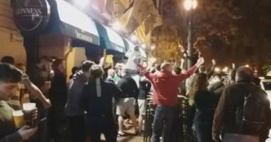 Испанская полиция избила фанатов Селтика и стреляла по ним резиновыми пулями