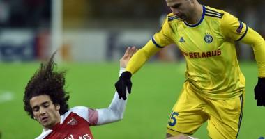 БАТЭ — Арсенал 1:0 Видео гола и обзор матча Лиги Европы