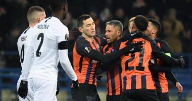 Шахтер - Айнтрахт 2:2 видео голов и обзор матча Лиги Европы