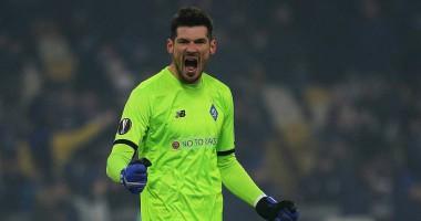Бойко стал лучшим вратарем недели в Лиге Европы