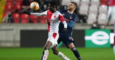 Славия — Арсенал 0:4 видео голов и обзор матча Лиги Европы