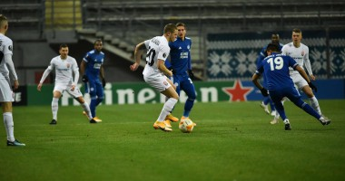 Заря - Лестер 1:0 видео гола и обзор матча Лиги Европы