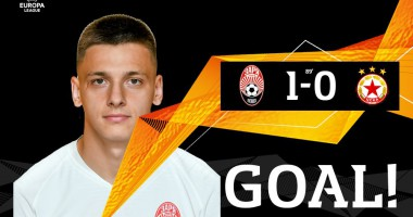 Русин забил гол в ворота ЦСКА, после чего заработал красную карточку
