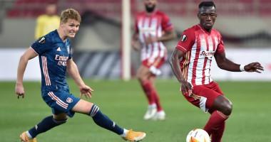 Олимпиакос - Арсенал 1:3 Видео голов и обзор матча 1/8 Лиги Европы