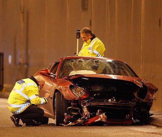 Разбитая Ferrari Роналду