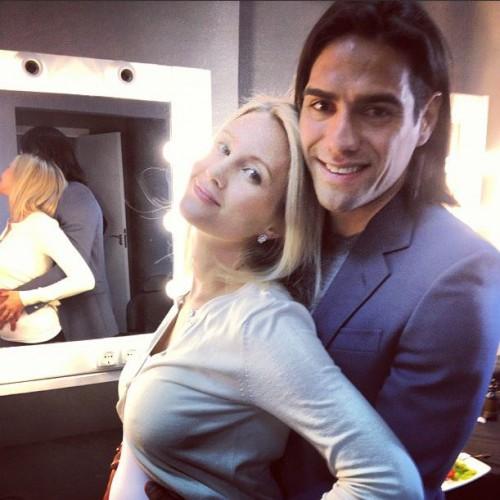 Фалькао и его жена