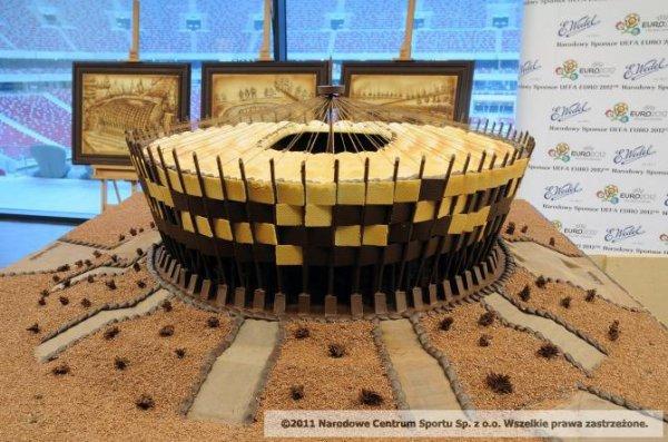 Этот шоколадный Stadion Narodowy съедят польские дети-сироты