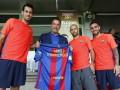 Арнольд Шварценеггер посетил тренировку Барселоны