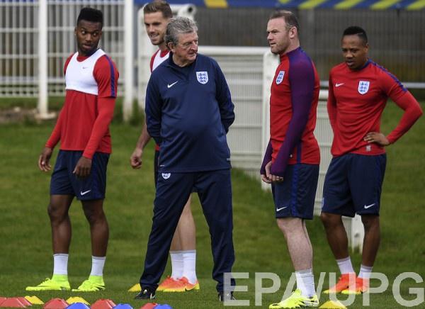Сборная Англии на тренировке