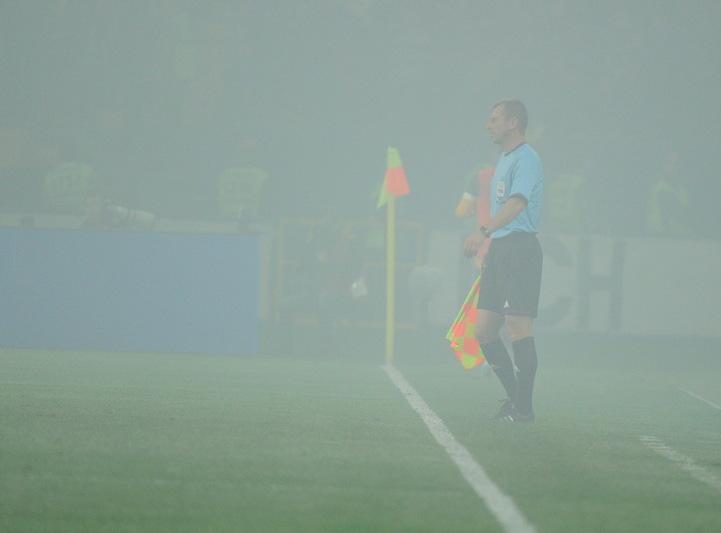 Судьям в Харькове пришлось работать в дыму