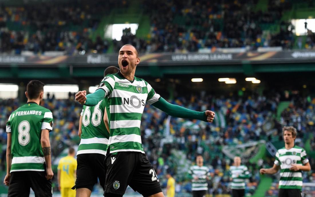 Спортинг сумел пройти в 1/8 финала Лиги Европы по сумме двух матчей