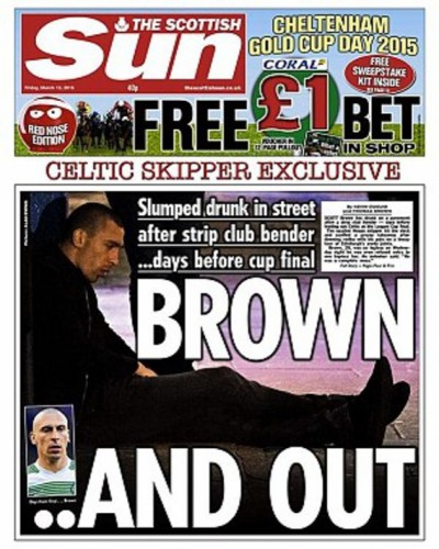 Скотт Браун был сфотографирован в пьяном виде
