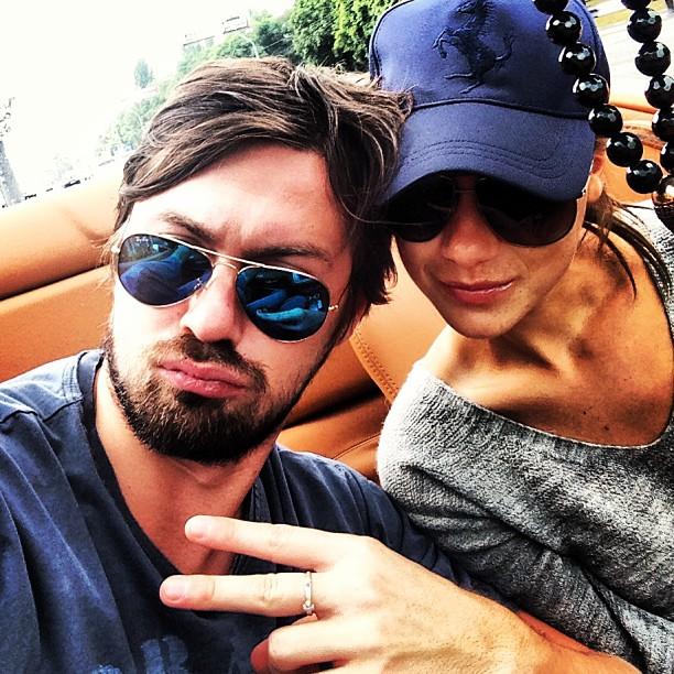 Артем Милевский с сестрой
