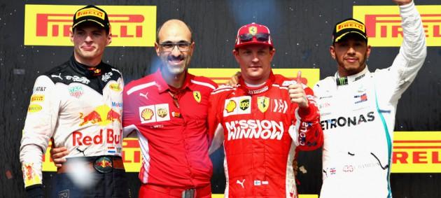 Райкконен добыл победу на Гран-при США, Хэмилтон финишировал третьим