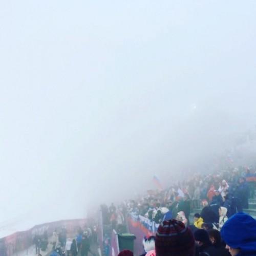 Туман поспособствовал переносу биатлонной гонки