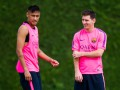 Неймар поиздевался над Пике на тренировке Барселоны