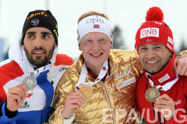 Тройка призеров мужского масс-старта