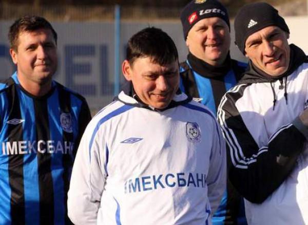 Илья Цымбаларь в команде ветеранов Черноморца