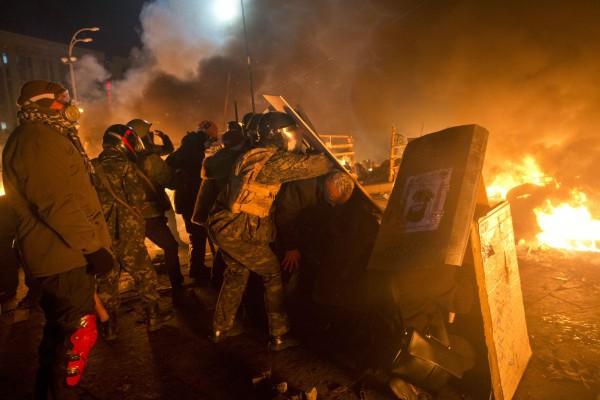 Боевые действия в Киеве с 18 на 19 февраля