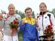 Украинка Инна Осипенко-Радомская, бронзовый призер Афин-2004, была первой в финальном заплыве на 500 метров