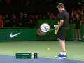 Первая ракетка мира поменялся с болбоем во время матча с Федерером
