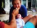 Примерил роль отца: Как Кличко играет с маленькой дочерью