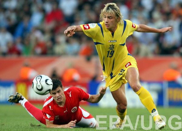 Максим Калиниченко в матче со Швейцарией на ЧМ-2006