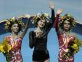 Украинскую гимнастку в Киеве наградили за победу российским гимном (ВИДЕО)