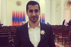 Мхитарян получил награду За заслуги перед Арменией