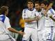 Киевляне празднуют первый гол в ворота Интера
