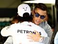 Роналду встретился со звездой Формулы-1, а его сын сел за руль гоночного болида