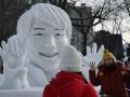 В Японии возвели снеговую скульптуру олимпийского чемпиона Сочи-2014