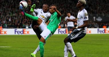 Сент-Этьен - Манчестер Юнайтед 0:1 Видео гола и обзор матча Лиги Европы