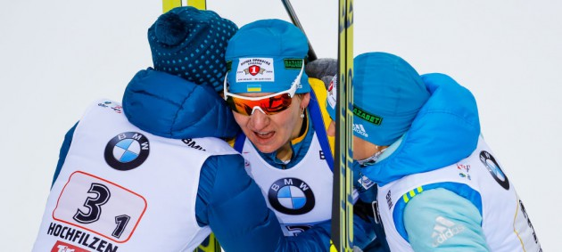 Сборная Украины в невероятной гонке завоевала бронзу в эстафете на чемпионате мира