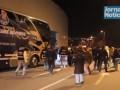 Фанаты Порту закидали петардами автобус с футболистами