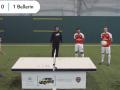 Игроки Арсенала сыграли в настольный теннис футбольным мячом