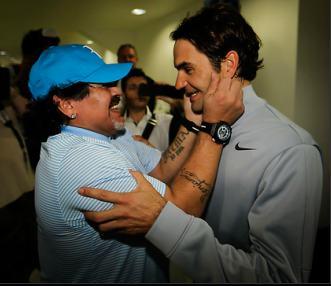 Марадона и Федерер