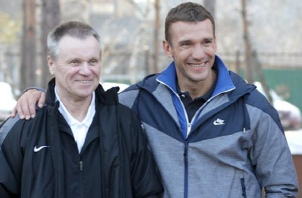 Андрей Шевченко со своим первым тренером Александром Шпаковым