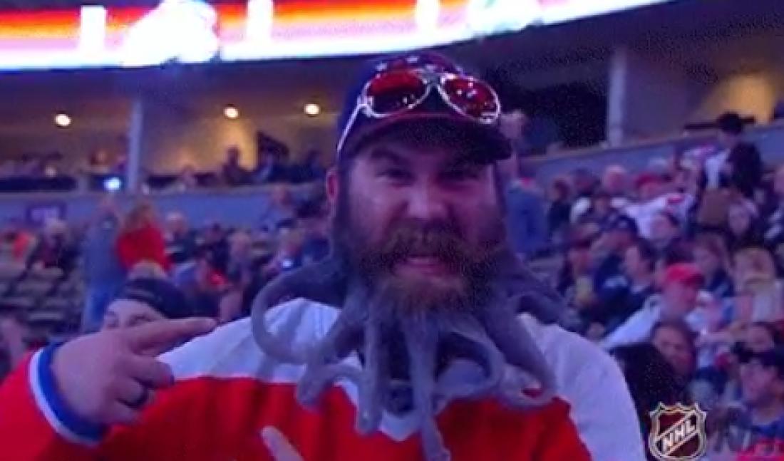Бородач болел за Вашингтон своей бородой