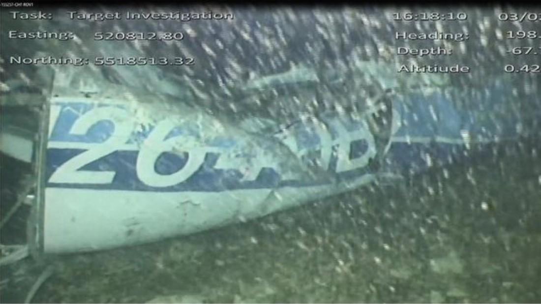 Обломки самолета, на котором летел Эмилиано Сала