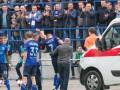 Милевский покинул стадион на машине Скорой помощи